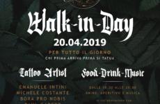 Walk-in-Day in Tatuaggeria \ 20 Aprile 2019